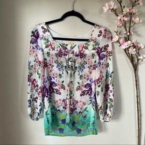 ANTHRO / VANESSA VIRGINA / FLORAL BLOUSE
